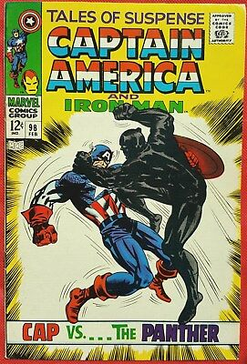 Tales of Suspense 98 1968 1st meeting of Captain America and Black Panther vf