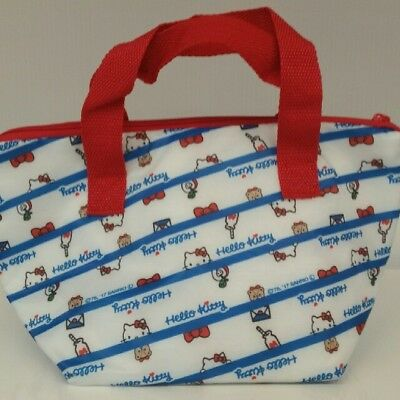 Sanrio Hello Kitty Red & Blue & White Thermo Thermal Insulated Lunch Bento Bag