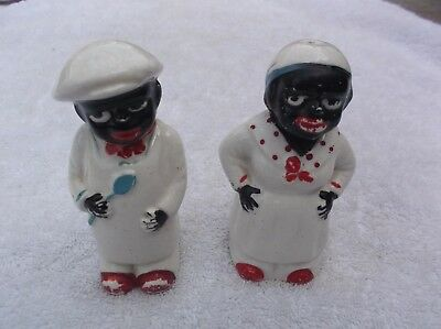Vintage Collectable African American  Cook Salt & Pepper Shakers