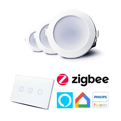 Smart LED Downlight Bundle | Wall Mount Dimmer Switch | App & Voice Control Thro