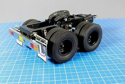 Custom made Tamiya 1/14 RC Semi Tractor Trailer 2 Axles Dolly 5th wheel Coupling