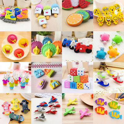 Lots Style Rubber Pencil Eraser Student Stationery Toy Supply Office School