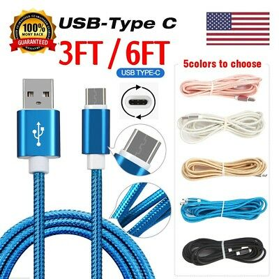 Nylon Strong Braided Rope USB-C Type-C 3.1 Data Sync Charger Charging Cable Cord