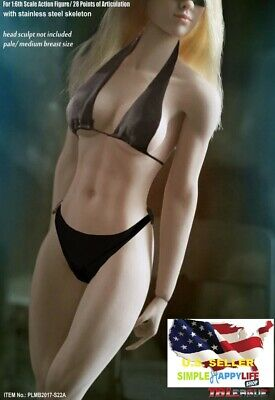 1/6 PHICEN Female Muscle Seamless body S22A Pale Medium breast ❶USA IN STOCK❶