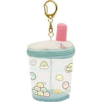Japan San-X Sumikko Gurashi Boba Milk Tea Cup Plush Keychain Cute Kawaii Toy