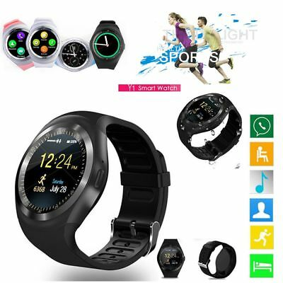 2018*Bluetooth Smart Watch Phone Mate Round Touch Screen SIM For Android Samsung