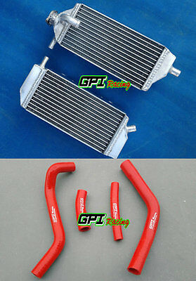 Aluminum Radiator & red Hose for YAMAHA YZ250F YZF250 YZF 250 2014-2016 2015