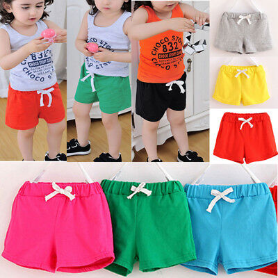 Summer Children Kids Cotton Shorts Boys Girls Clothes Baby Simple Casual Pants