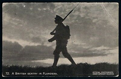 WW1 Unused Postcard • Official War Photo • #72 • A British Sentry in Flanders
