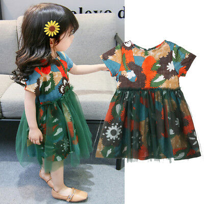 2018 Toddler Summer Baby Girls Kids Dress Lace Tulle Beach Party Dresses Clothes