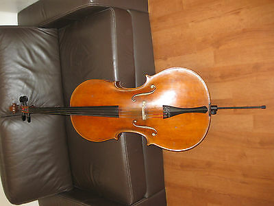 Cello Violoncello 4/4 Vogtland Sachsen um 1900 mit Jakob Winter Cellokasten