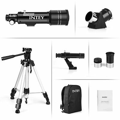 INTEY Portable Refractor Astronomy Telescope 70mm with Aluminum Tripod Rucksack