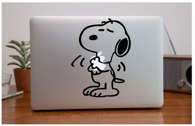 SNOOPY HUGGING vinyl sticker Mac Book/Air/Retina laptop decal 11 13 15 17""