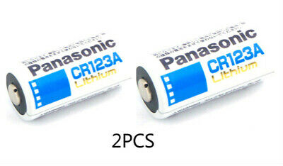 PANASONIC CR123A Lithium Batteries 3V Battery 2pcs Brand New Free & Fast Ship