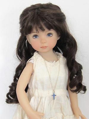 "Ringlets wig for Little Darling doll 13""Dianna Effner-7/8""(18/19cm)-Dark brown"