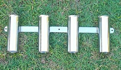 Stainless  Steel Flared Rack Of 4 Rod Holders