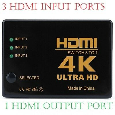 4K SLIM 3 IN 1 OUT 3 INPUT 1 OUTPUT HDMI 2016p Switch/Switcher/Splitter 4K*2K 3D