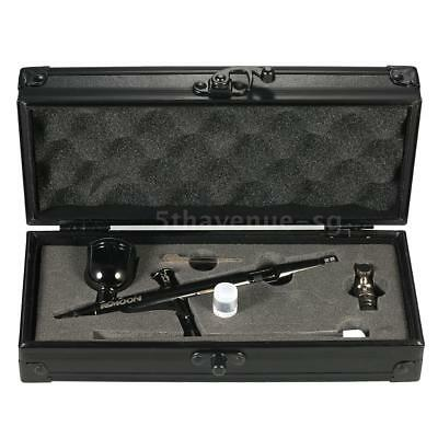 Dual-Action Airbrush Kit Set 0.3mm 8cc Trigger Spray Pistole Kunst Handwerk H7Q2