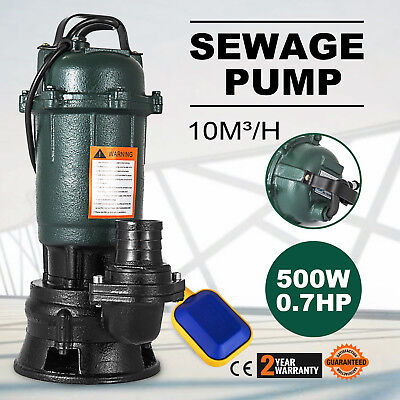 500W Submersible Sewage Dirty Waste Water Pump Professional 167l/min Sewer pump