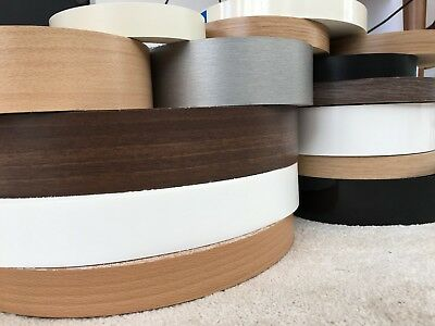 IRON ON EDGING Pre Glued Real Wood Veneer Edge Banding Tape 22mm