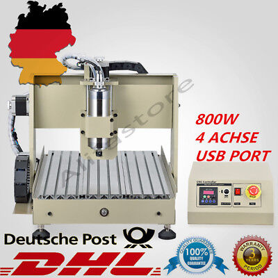 4 Achse Usb 800W 3040T Cnc Router Gravirmaschine  Frãsen Engraving & Controller