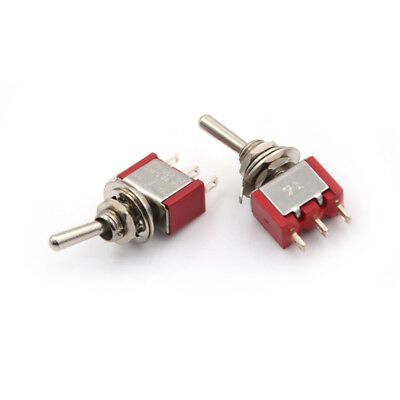 2x SPDT On/Off/On 3Position Momentary Toggle Switch AC250V/2A/120V/5A MTS-10 EY