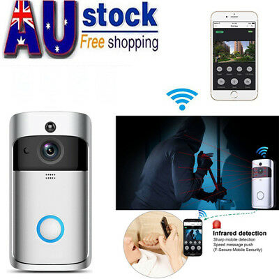 WIFI Video Doorbell, Smart Doorbell HD Security Camera Two-Way Talk Night Vision