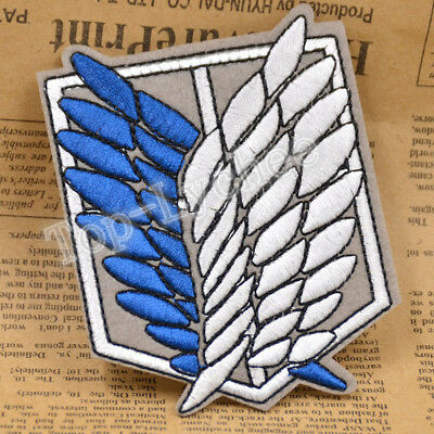 Cartoon Anime Attack On Titan Patch Iron on Embroidered Sewing Badge for Clothes