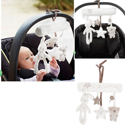 Newborn Infant Baby Pram Handbell Bed Stroller Soft Hanging Toy Animal Rattles