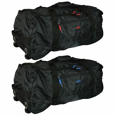 Folding 80l Luggage Bag Travel Sports Carry Lightweight Duffel Holdall Wheeled