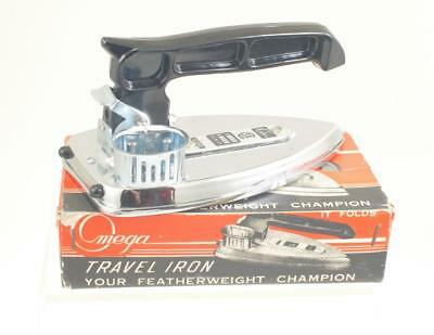 """VINTAGE OMEGA """"FEATHERWEIGHT"""" FOLDING IRON by DEYONCO - C 1960's 222T"""