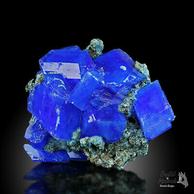 WoW! CHRISTMAS GIFT !!! XXL Electric Blue CHALCANTHITE on Matrix from POLAND