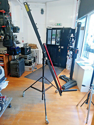 Used Cantilever Boom Stands c/w Manfrotto 008BU Lighting Stand with Wheels