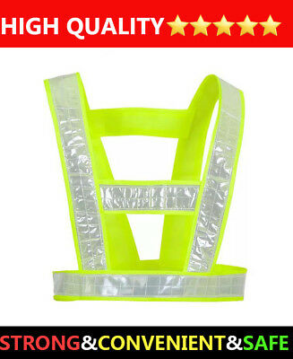 Safety Hi vis Vest workwear Reflective Tape Work Jacket High Visibility Yellow