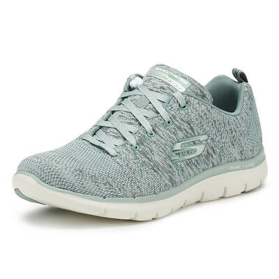 05e9fc401932 Skechers Womens Trainers Sage Green Flex Appeal 2.0 High Energy Running  Shoes