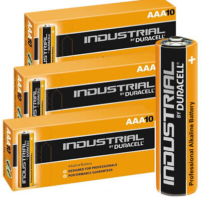 30 Duracell Industrial AAA Alkaline Batteries Replaces Procell MN1500 1.5V LR03