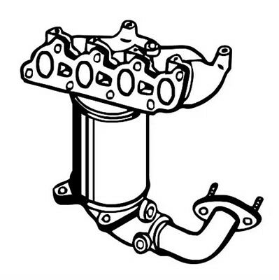 MEFEX exhaust catalytic converter FORD Fiesta VI 1.4 LPG
