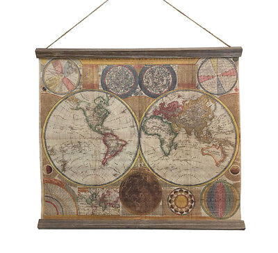 Schulwandkarte Weltkarte A General Map of the World Nostalgie Wandbild Vintage