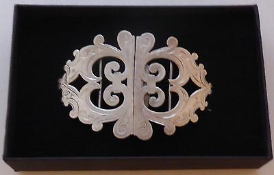 Chester 1901 Small Hallmarked Solid Silver Nurses Belt Buckle