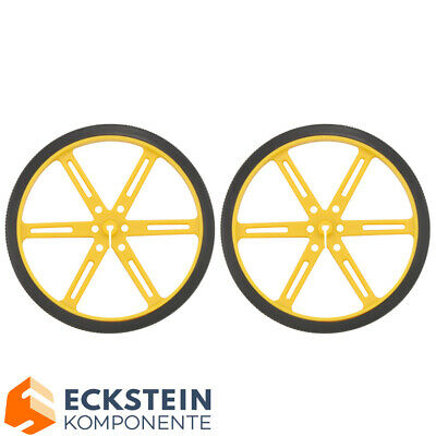 Pololu Wheel 70×8mm Pair - Yellow PO1427