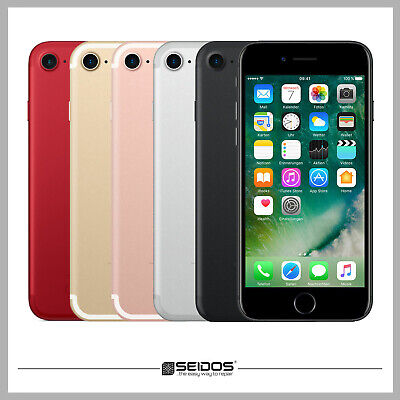 Apple Iphone 7 32Gb Rot - Red ( Ohne Vertrag ) Top Handy Smartphone - Wie Neu !