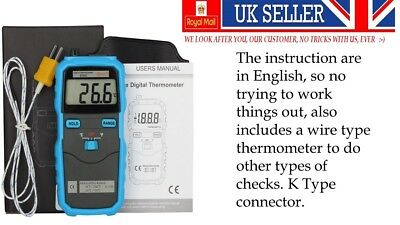 BTM01 K Type Thermometer With LCD Display Digital C/F  UK SELLER FREE POSTAGE