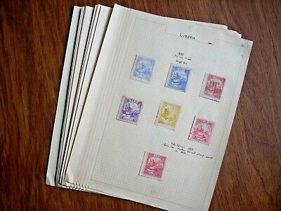 Liberia 1880/1924 Collection On Old Album Pages Mint/used All Pictured