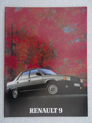 Renault 9 Brochure 1983 Featuring Tctdgtltse And Automatic Models