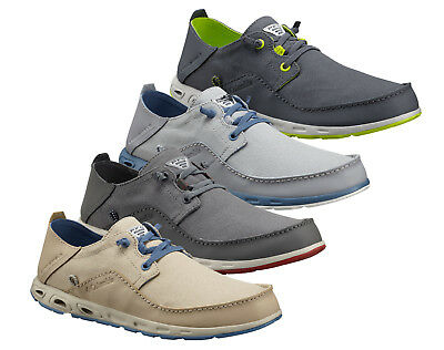 b13d8ce2e25 COLUMBIA BAHAMA VENT RELAXED PFG SHOE Canvas Leather Boat Shoes NEW ...