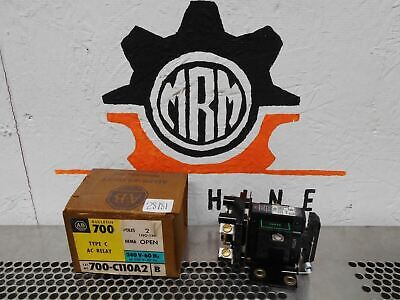Allen Bradley 700-C110A2 Ser B Type C AC Relay 2Pole 1NO-1NC Nema Open New