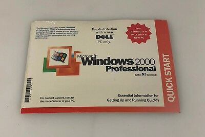 New Dell Microsoft Windows 2000 Professional W2K + SP3 Sealed