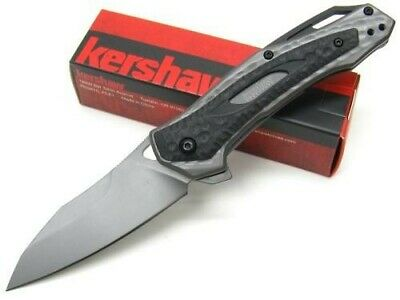 Kershaw Titanium Vedder Straight Black Assisted Folding Pocket Knife 2460