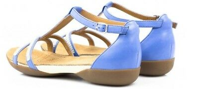 a8b8446b7 new clarks womens shoes raffi star blue leather size 4.5 uk fit D sandals