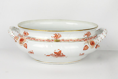 Herend Hungary Chinese Bouquet Rust Tureen Large 1005